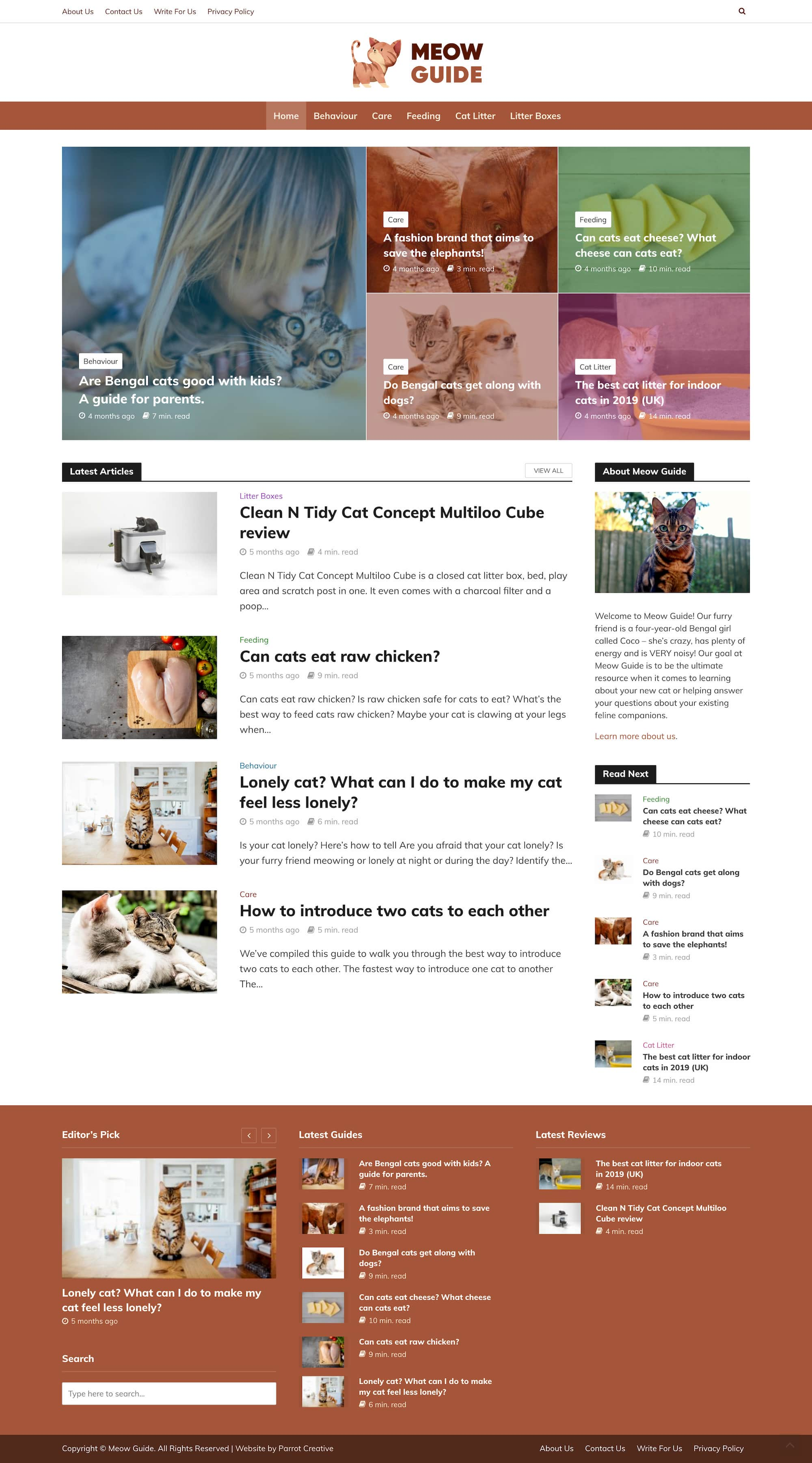 Meow Guide homepage