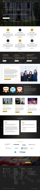 Dorset denture clinic service page design